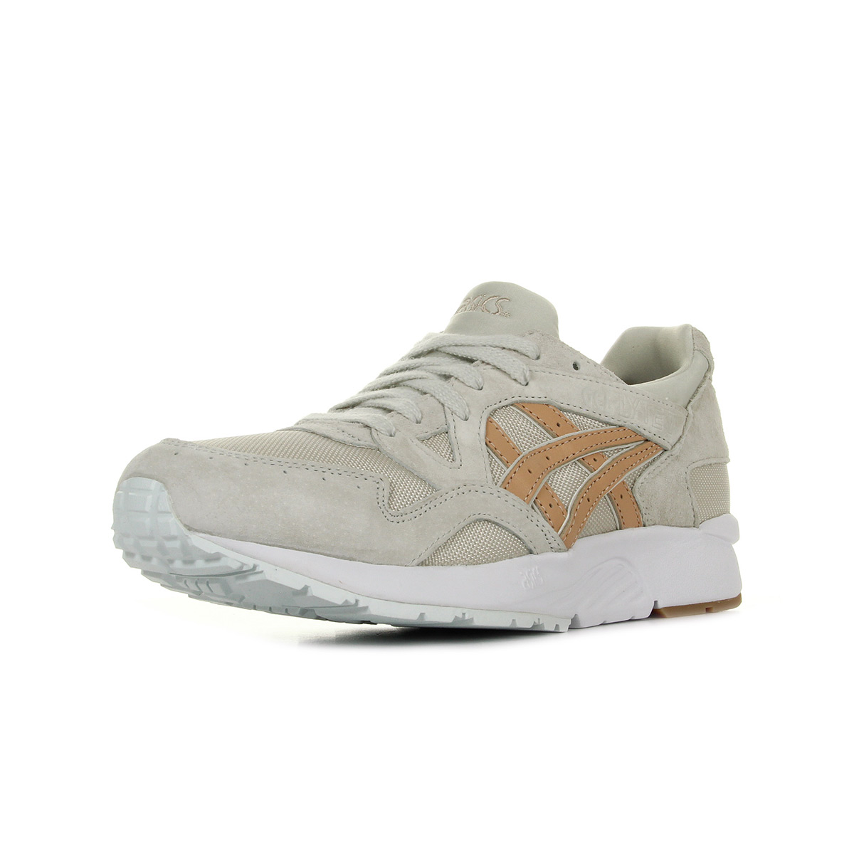 Chaussures Baskets Asics unisexe Gel Lyte V taille Beige Cuir Lacets