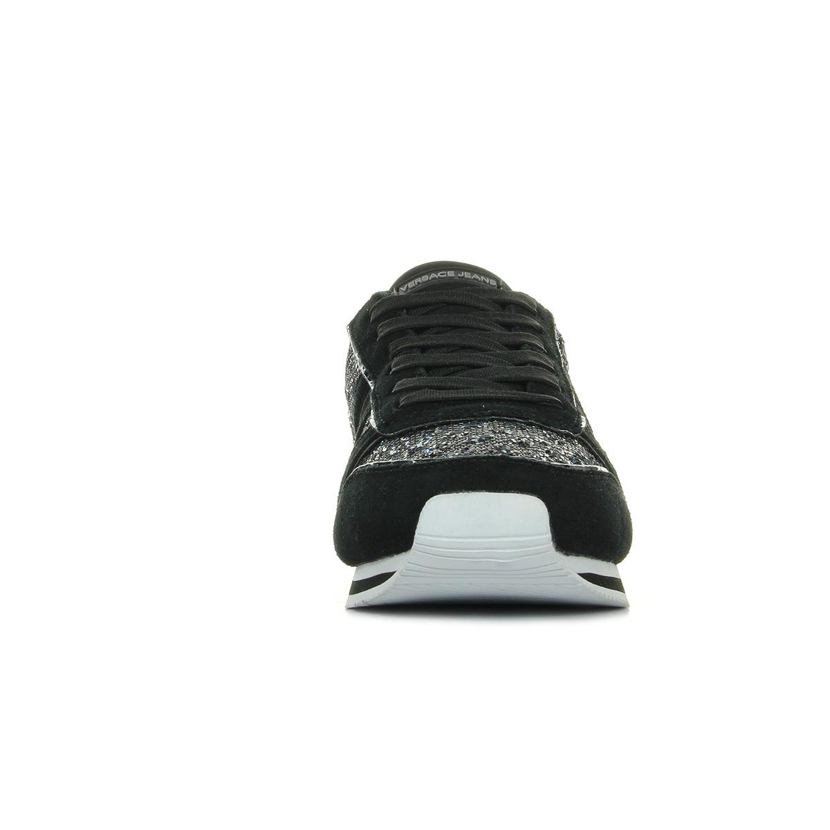 Dettagli su Chaussures Baskets Versace Jeans femme Linea Fondo Stella Dis1 Suede Glitter