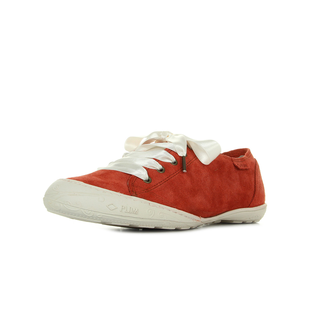 zapatos  Baskets Palladium mujer Game Sud Masai taille taille taille Rouge Cuir Lacets 637553