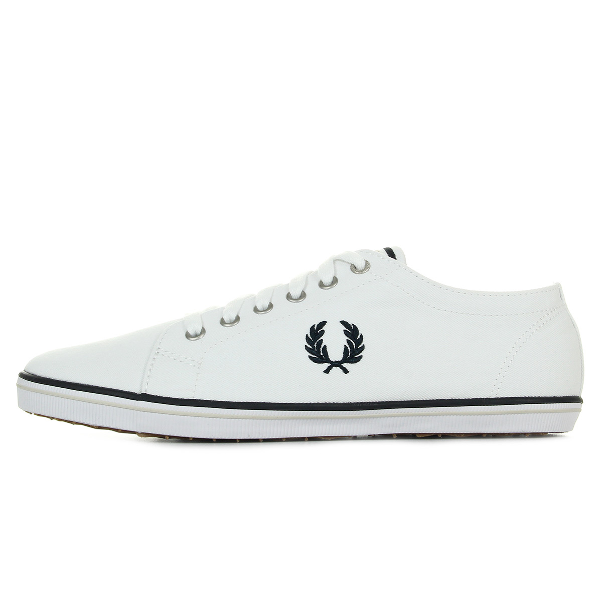 Fred Perry Kingston Twill Navy B6259U370, Baskets mode homme