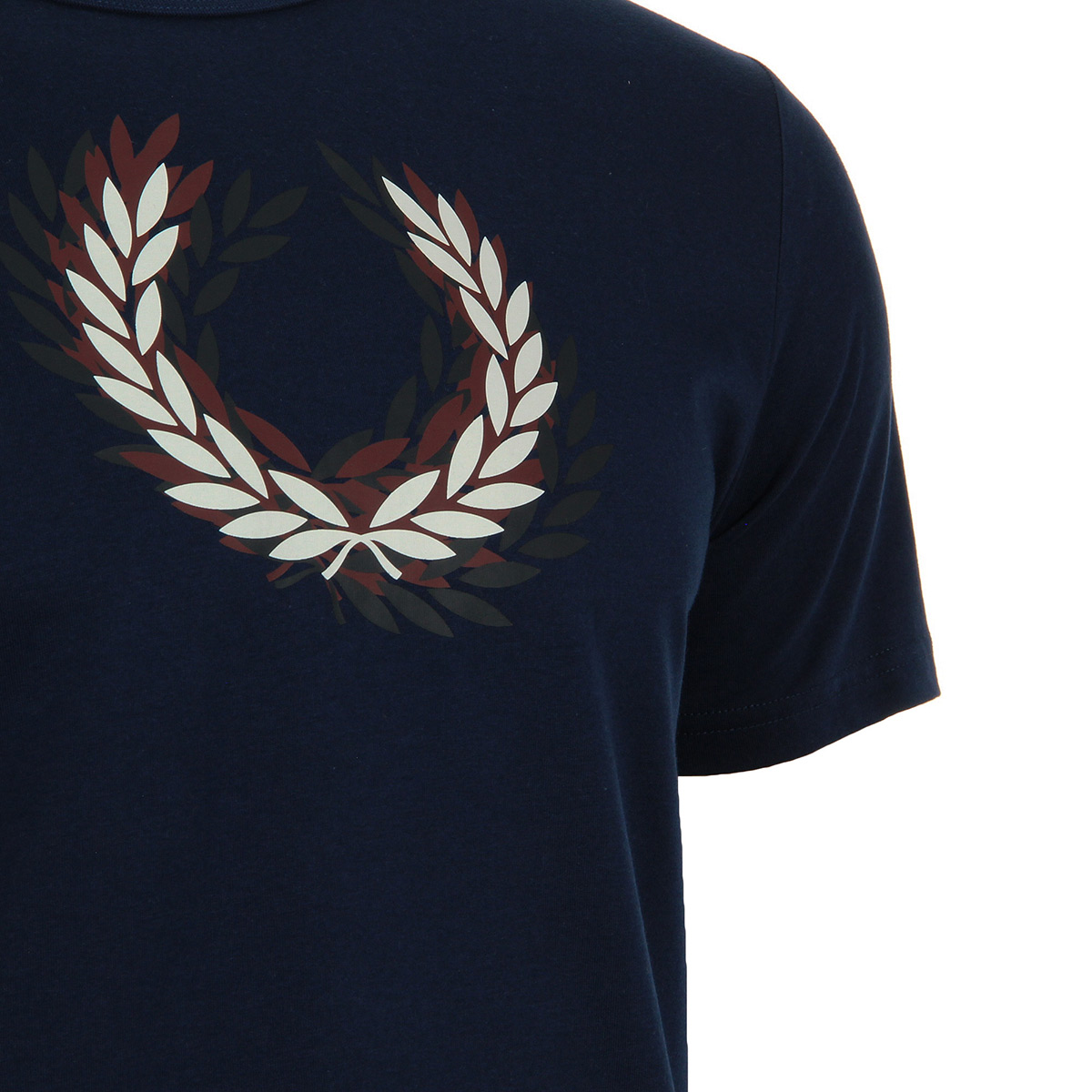 Fred Perry Distorted Laurelwreath T-shirt French Navy M3602143, T-Shirts homme