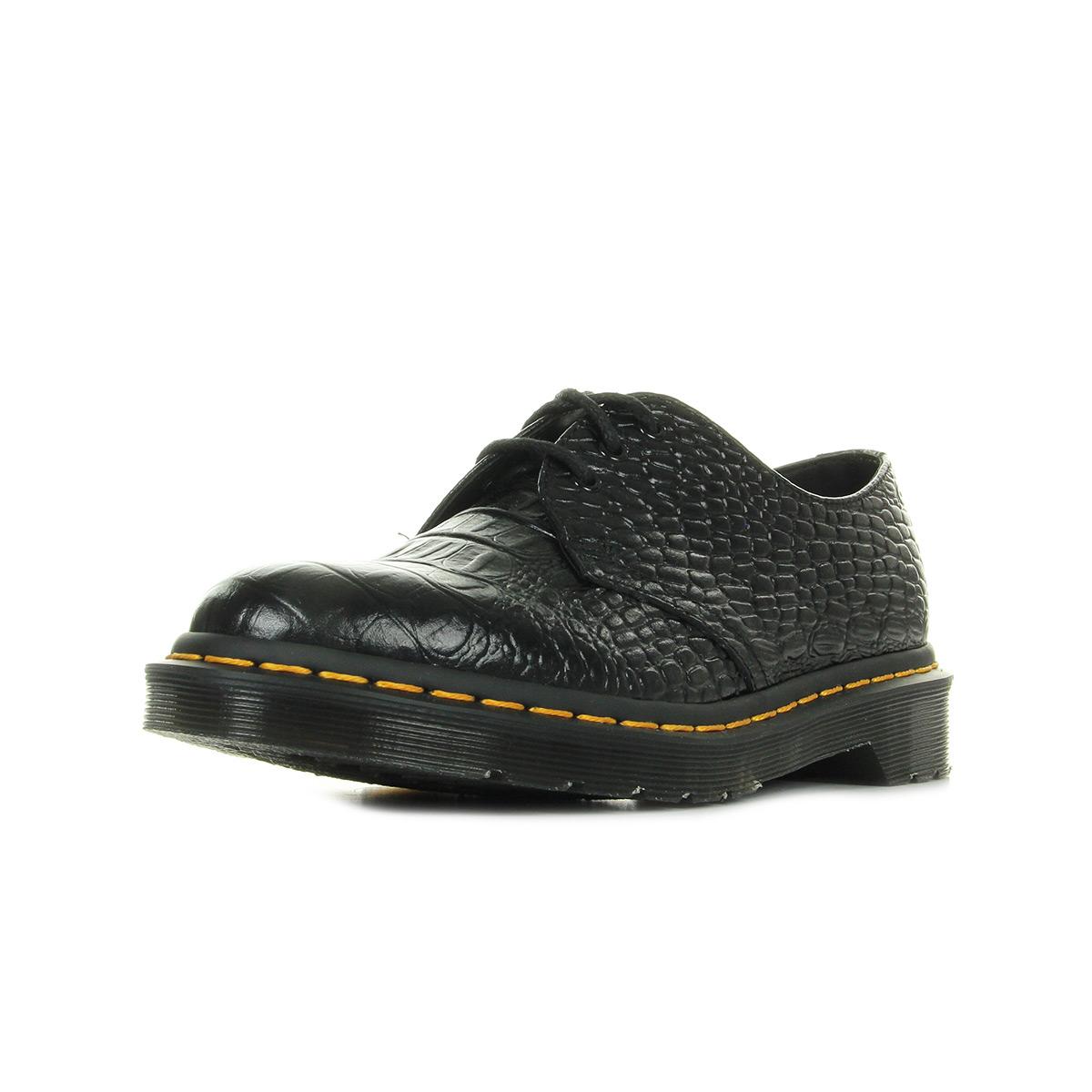 Dr Martens 1461 Croc Black noir - Chaussures Chaussure-Ville Femme