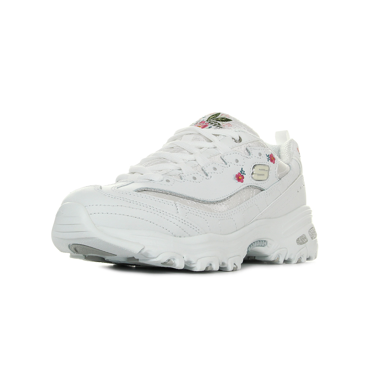 Skechers chaussures bottes à lacets confortables chaussures de sport pour femmes noir blanc