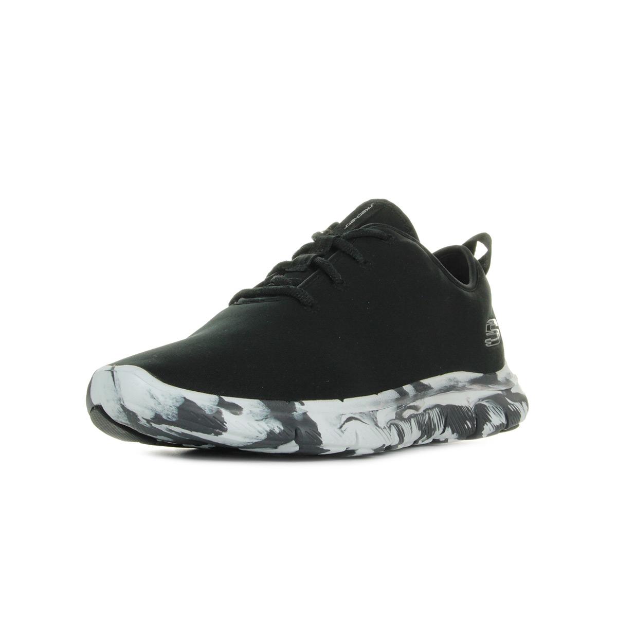 Chaussures Baskets Skechers femme Flex Appeal 20 Last Word taille Noir Noire