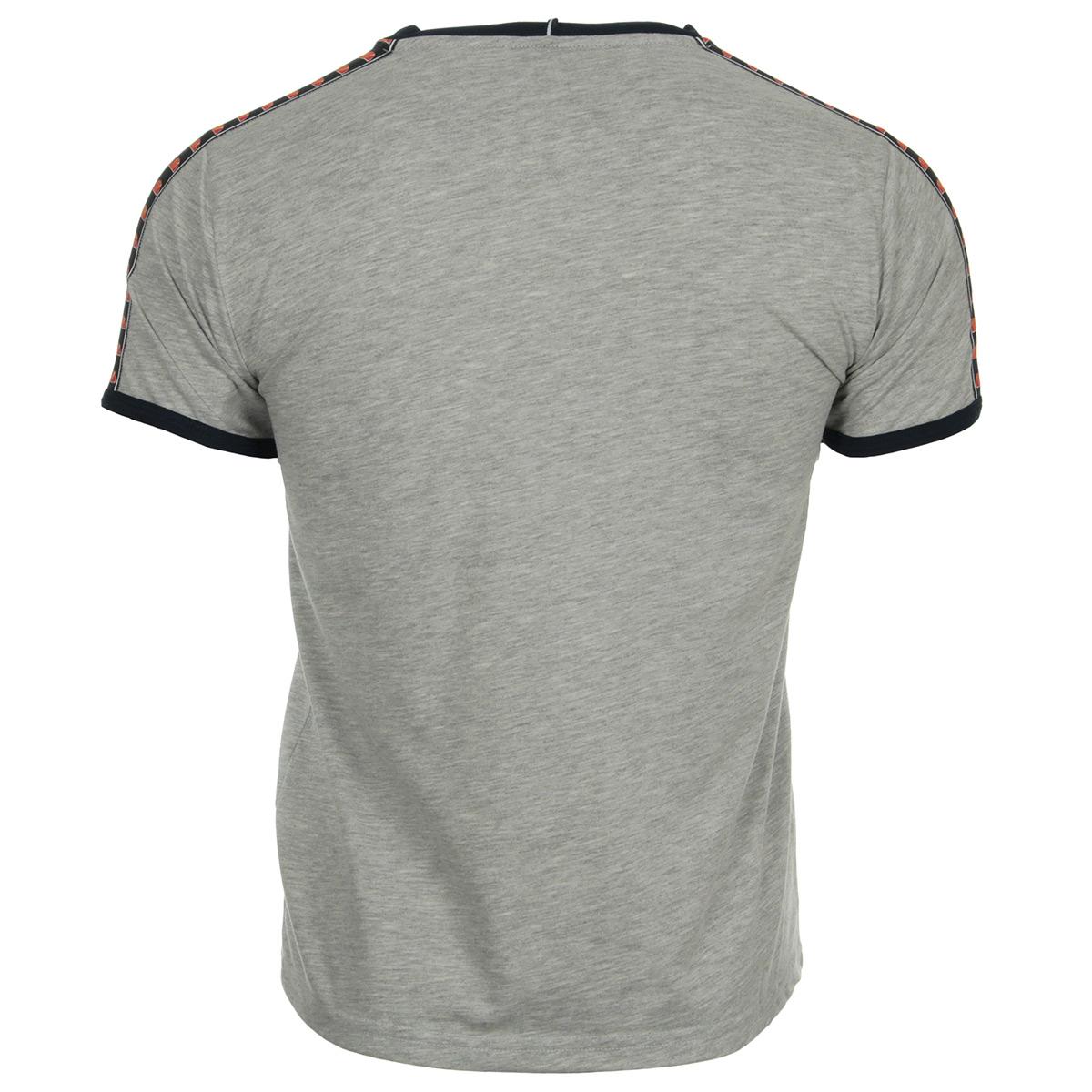 Ellesse T-Shirt EH Homme Bande Gris Chiné 1031NBANDEGRISCHINE, T-Shirts homme