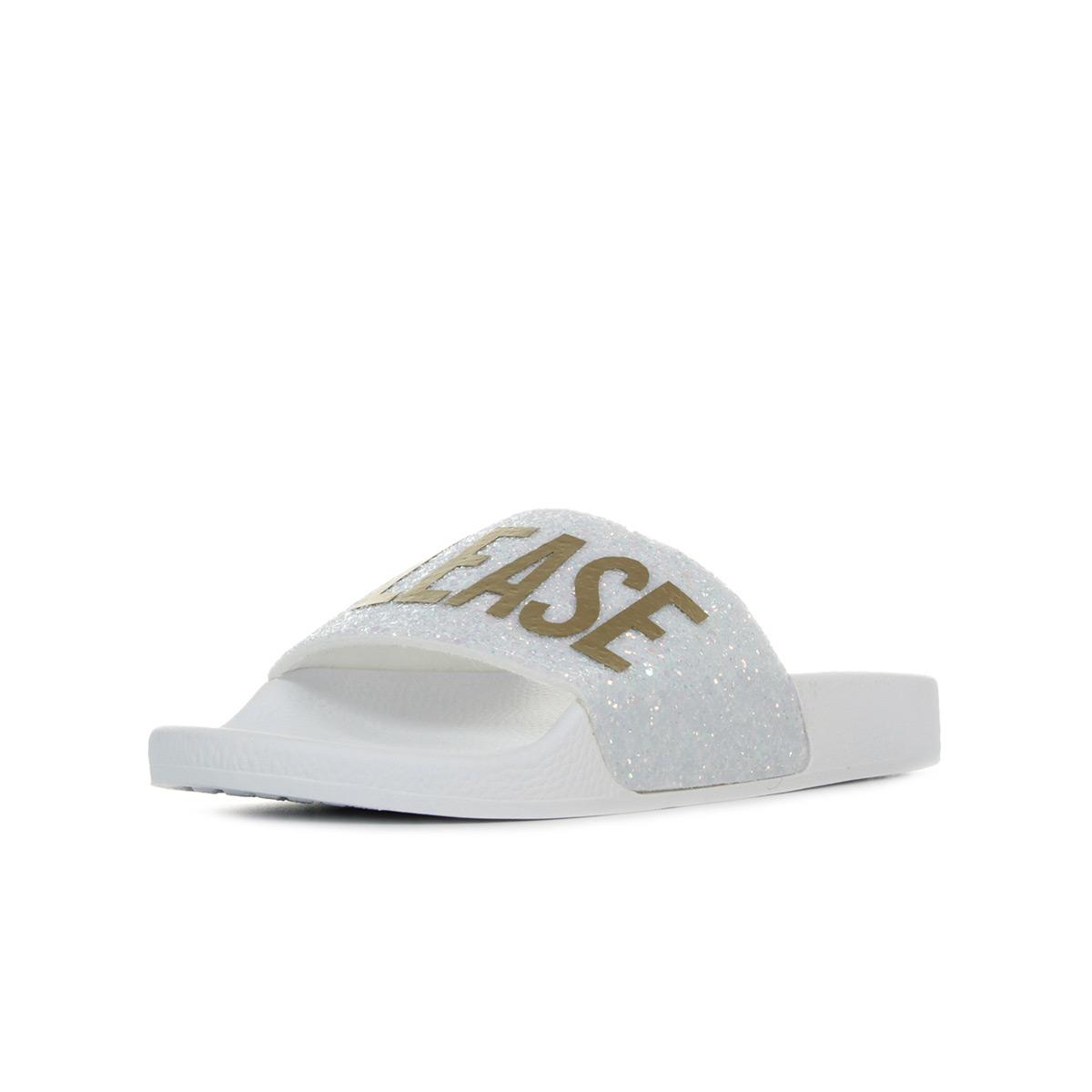 Thewhitebrand Glitter Beach Please blanc - Chaussures Sandale Femme