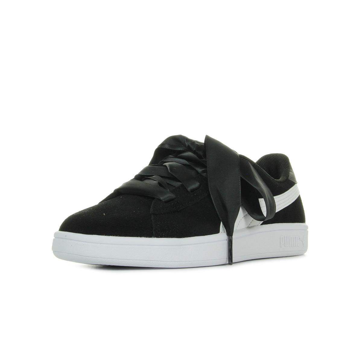 8087bd779473 Chaussures Baskets Puma femme Smash v2 Ribbon taille Noir Noire ...