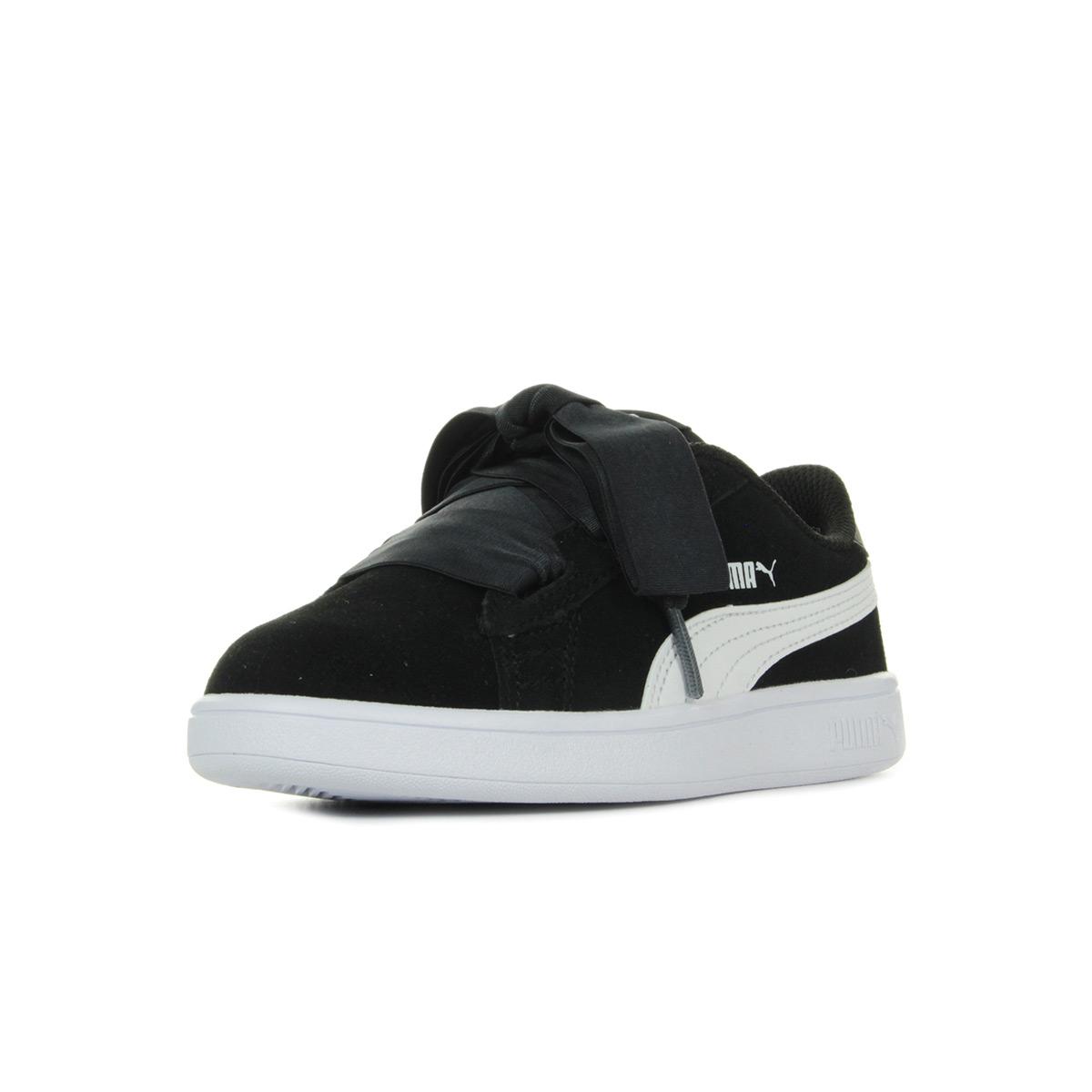 Details zu Schuhe Puma Mädchen Smash v2 Ribbon AC PS schwarz
