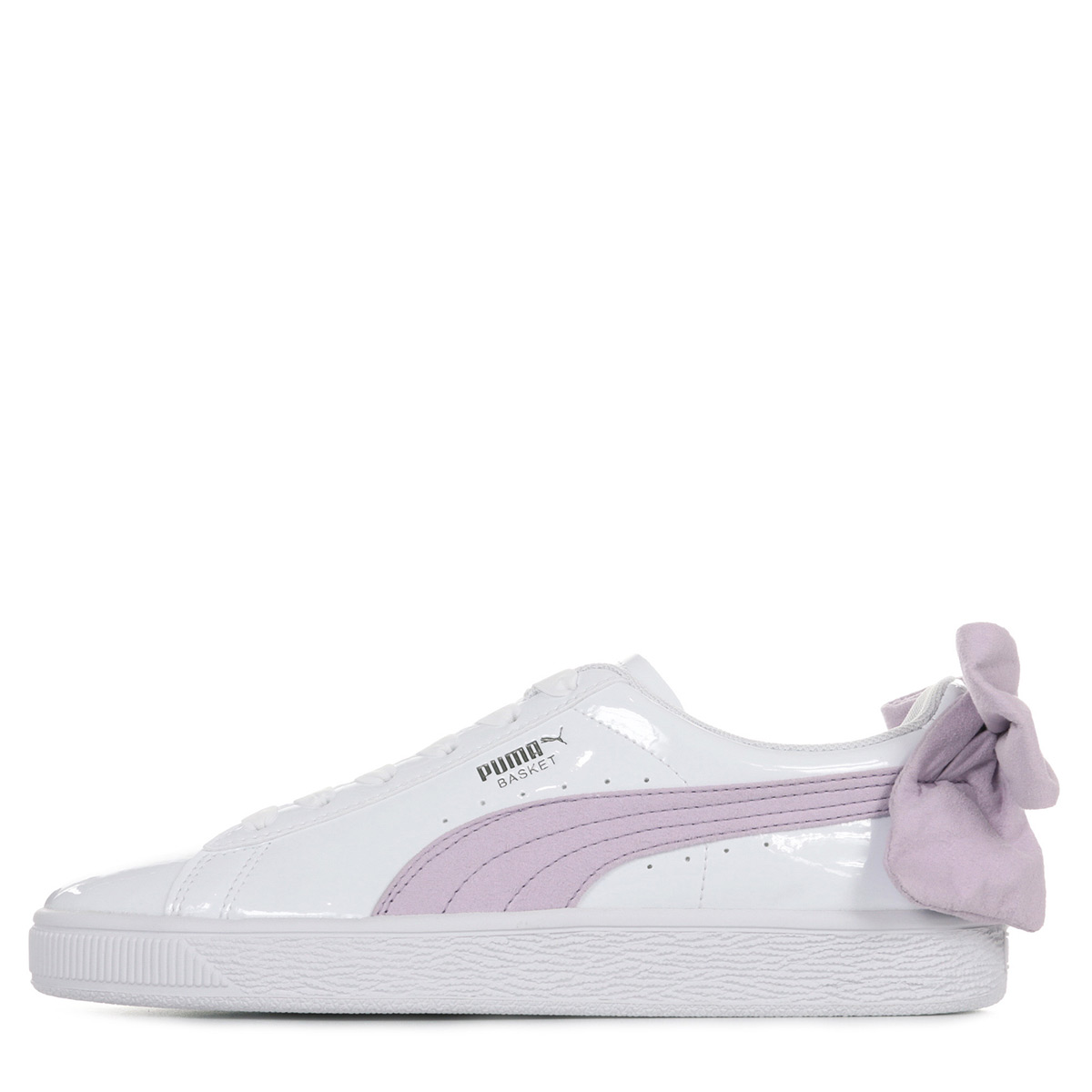 PUMA Baskets basses coloris violet à lacets élastiqués