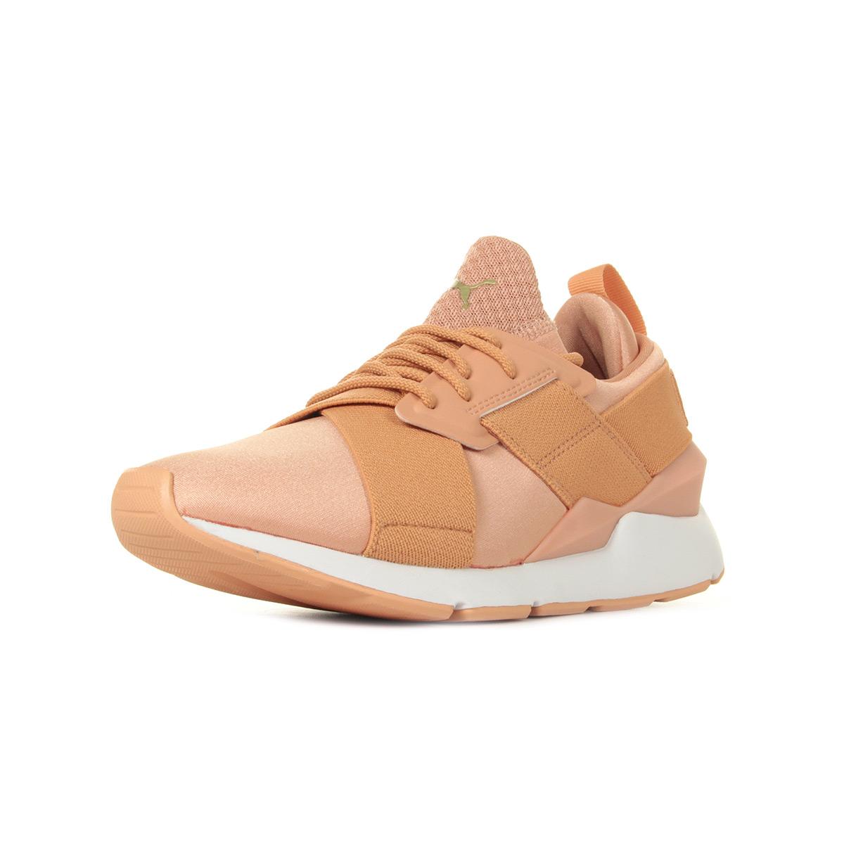 Détails sur Chaussures Baskets Puma femme Muse X Strp Satin EP W's taille Rose Textile