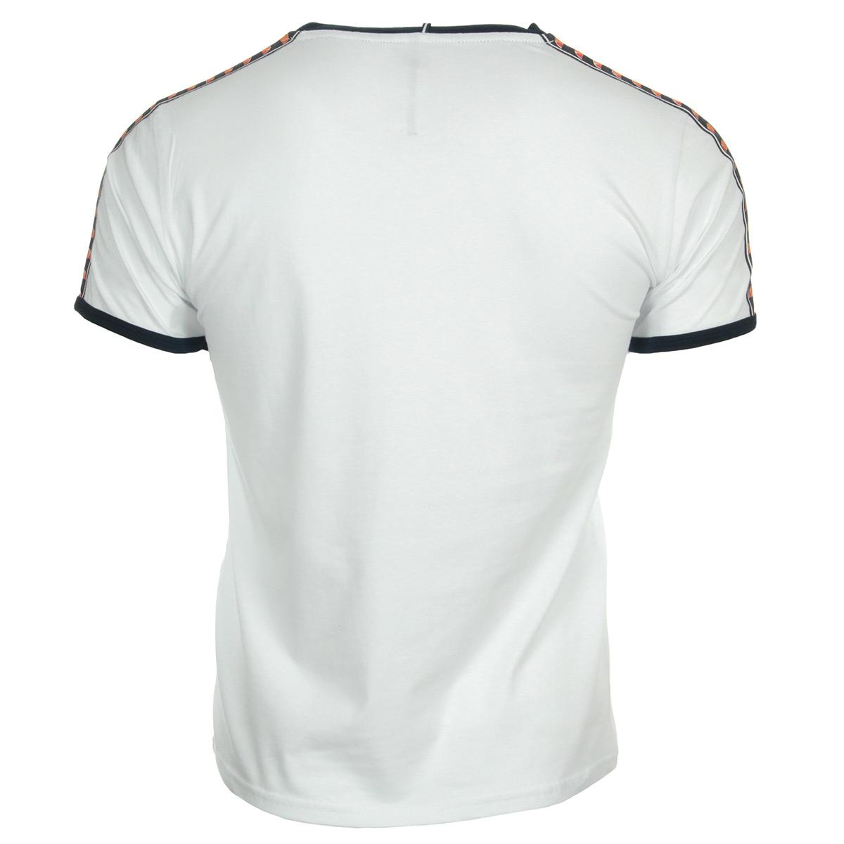 Ellesse T-Shirt EH Homme Bande Blanc 1031NBANDEBLANC, T-Shirts homme