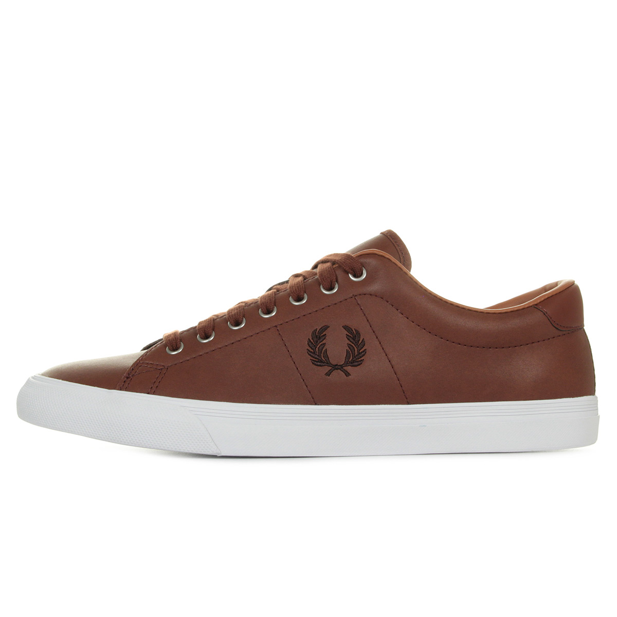 Fred Perry Underspin Leather Tan B9092F98, Baskets mode homme