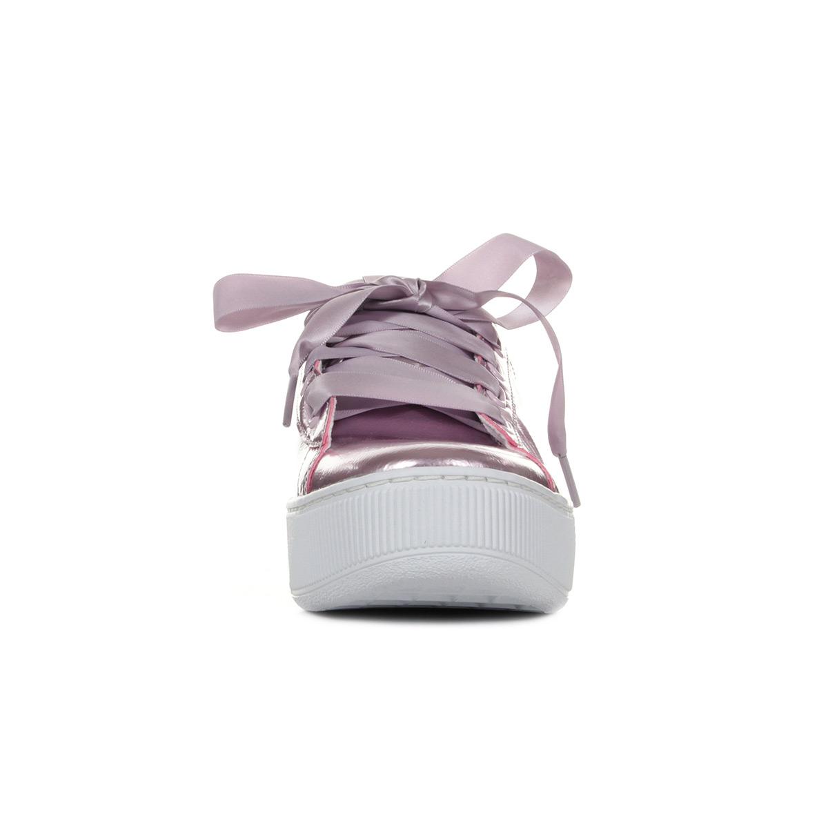 Détails sur Chaussures Baskets Puma femme Vikky Platform Ribbon P taille Violet Violette