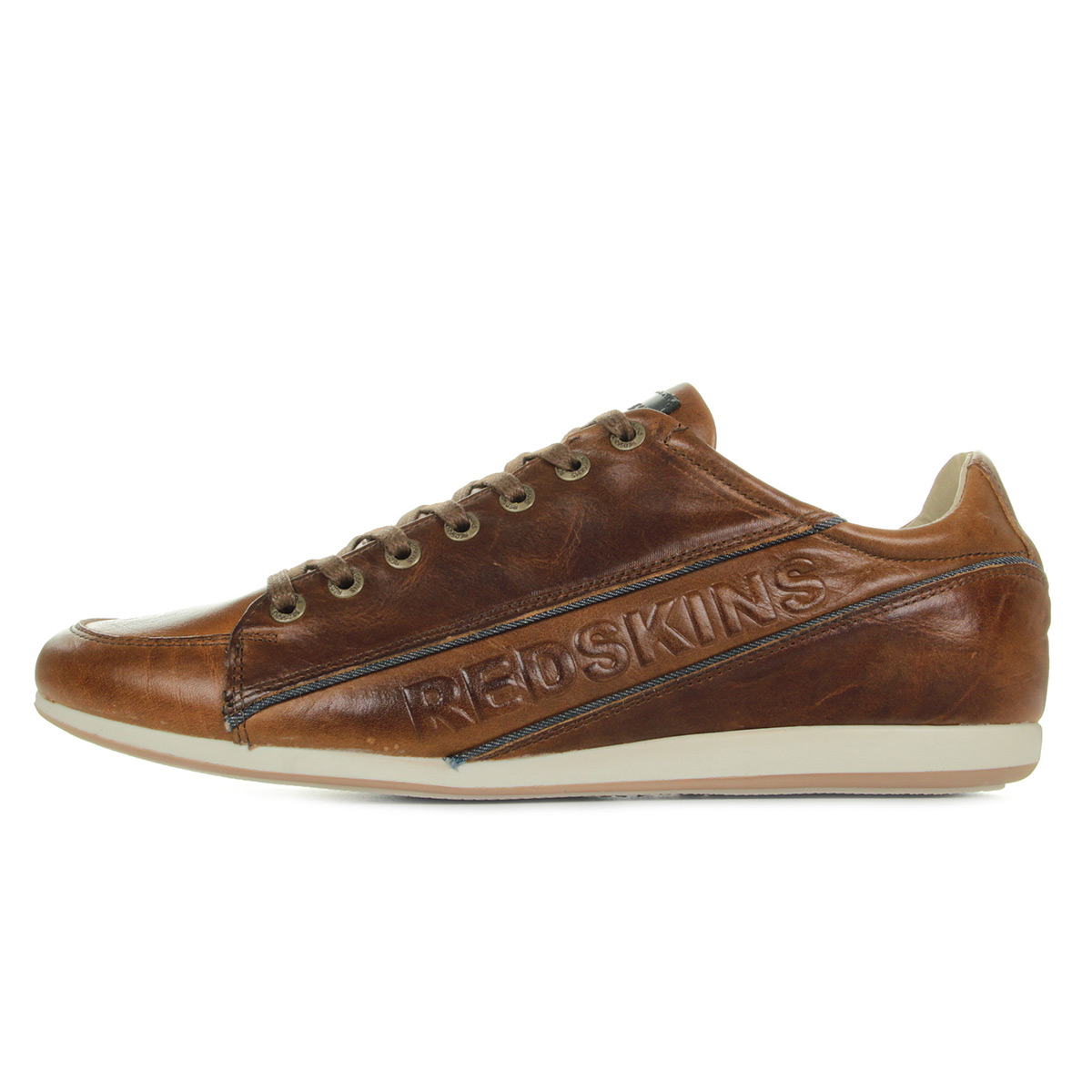 Redskins Wolk Cognac Marine UK8812P380, Baskets mode homme