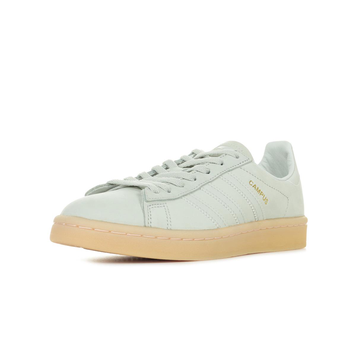 Détails sur Chaussures Baskets adidas femme Campus W taille Beige Cuir Lacets