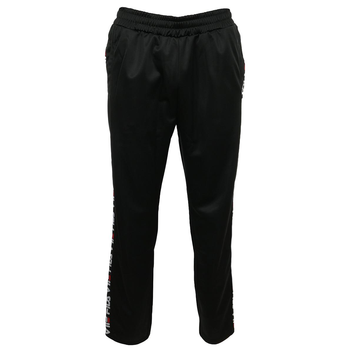 Détails sur Vêtement Pantalons sport Fila homme Men's Tape Track Pants taille Noir