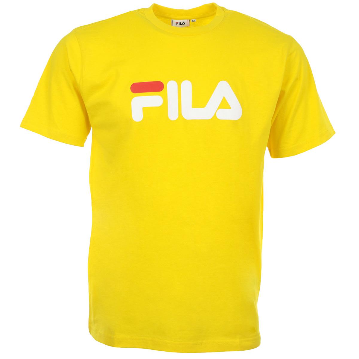 Vêtement T-Shirts Fila homme Talan Tee SS taille Blanc Coton