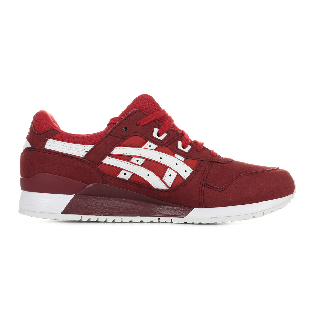 8931ac8b9b73 Chaussures Baskets Asics homme Gel Lyte III taille Rouge Synthétique ...