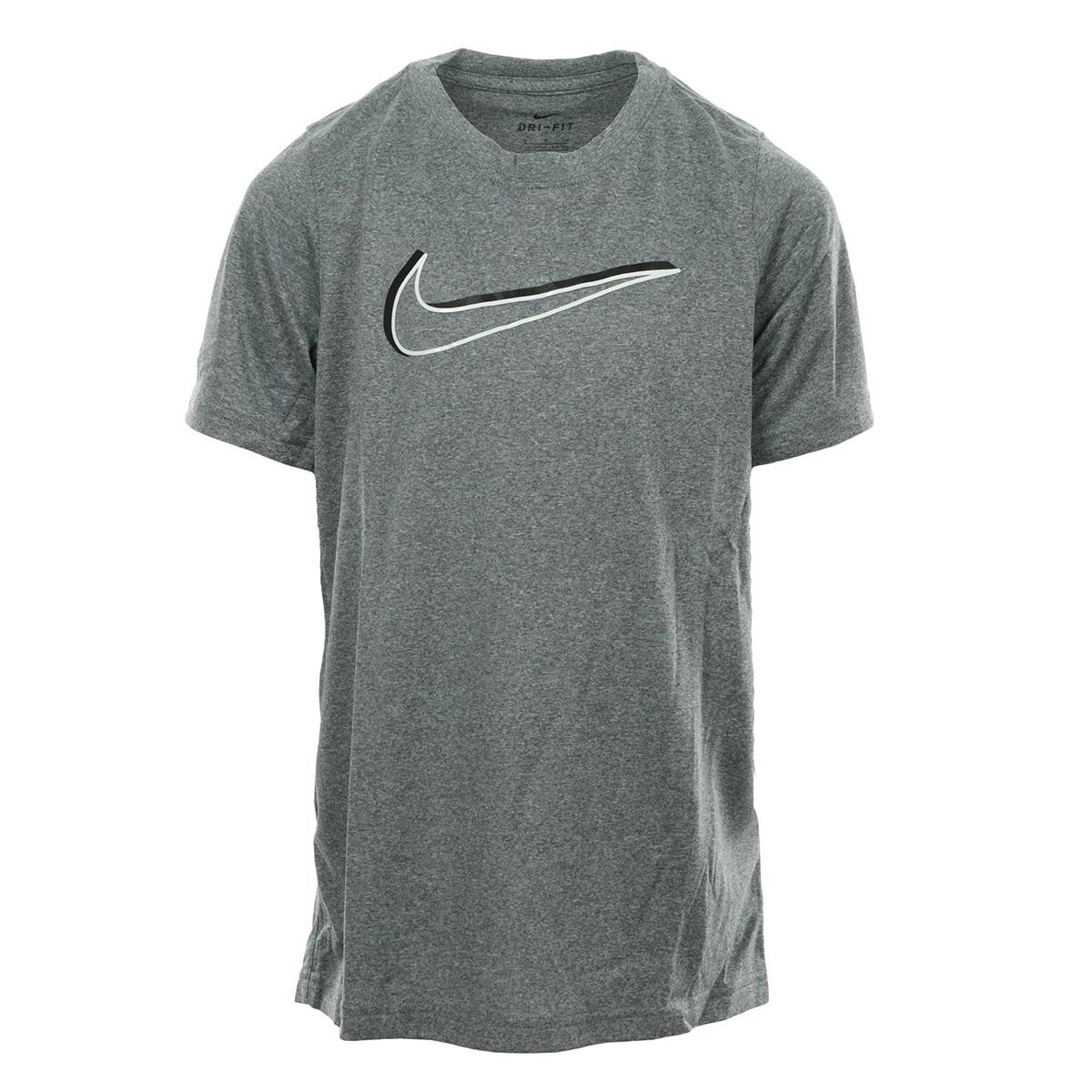 Détails sur Vêtement T Shirts Nike garçon Kids Dry Tee 3D Swoosh taille Gris Polyester