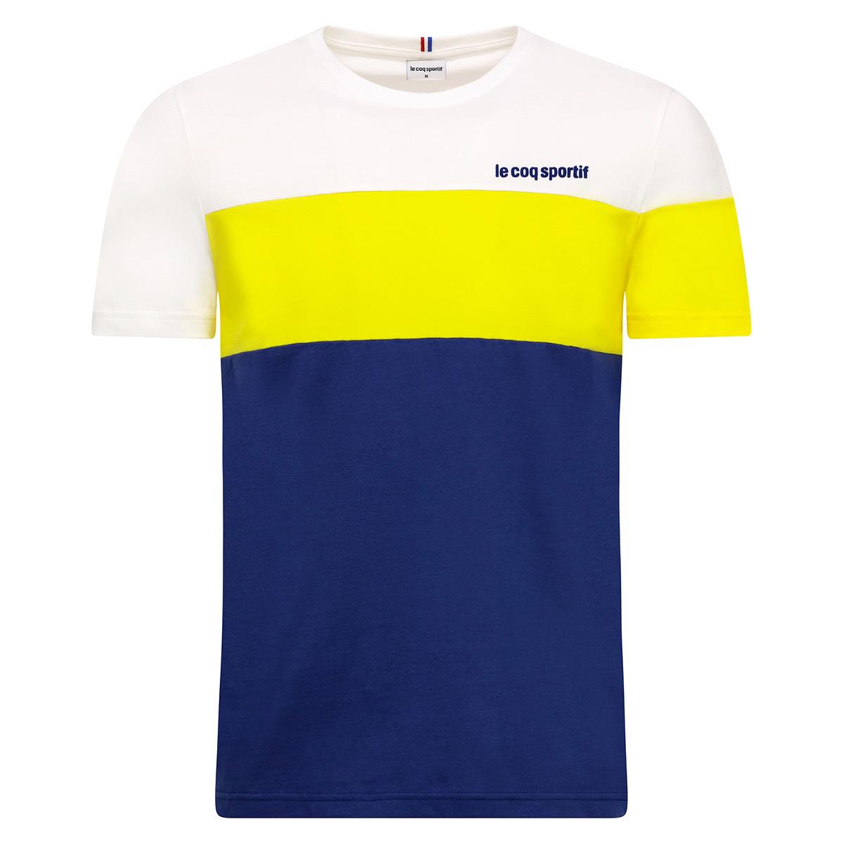 Vêtement T-Shirts Le Coq Sportif homme Ess Tee SS blues taille Bleu marine