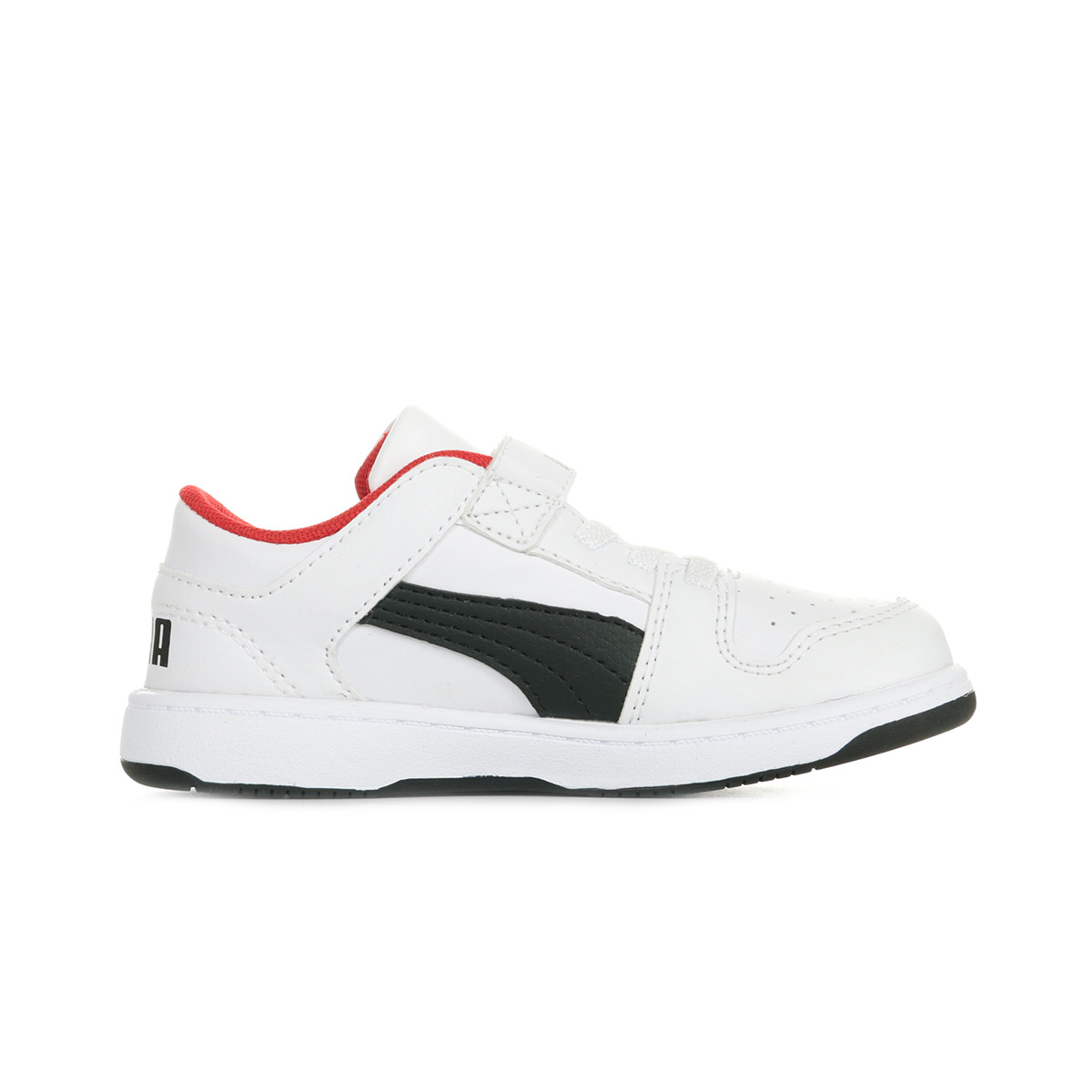 Blanc Noir Rouge PUMA Unisex-Kinder Rebound Layup Lo Sl Jr Sneaker