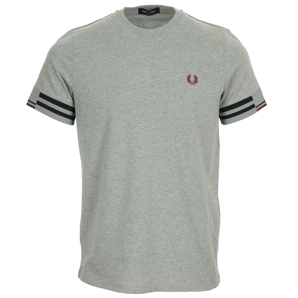 Fred Perry Abstract Cuff T shirt