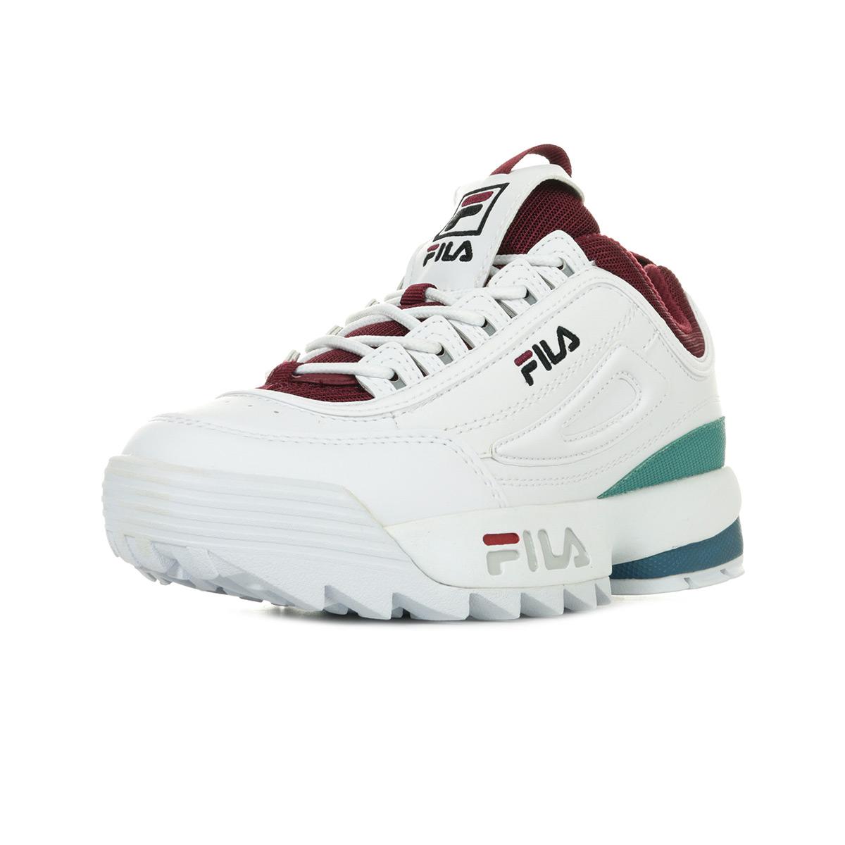 Détails sur Chaussures Baskets Fila femme Disruptor CB Low Wn's taille Blanc Blanche