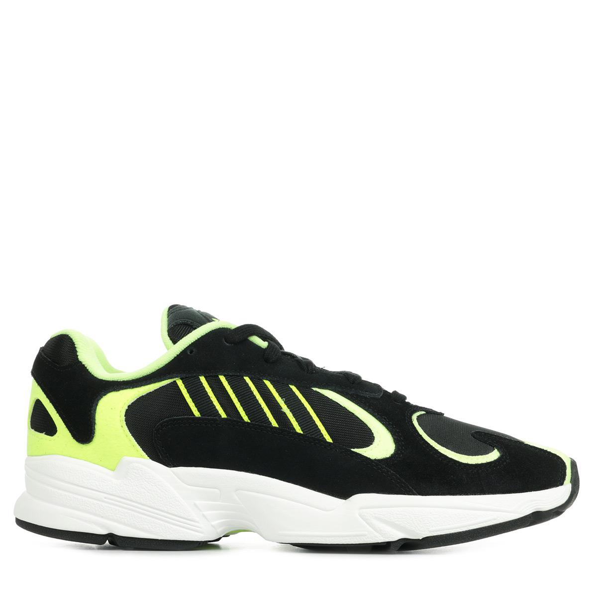 Détails sur Chaussures Baskets adidas homme Yung 1 taille Noir Noire Cuir Lacets