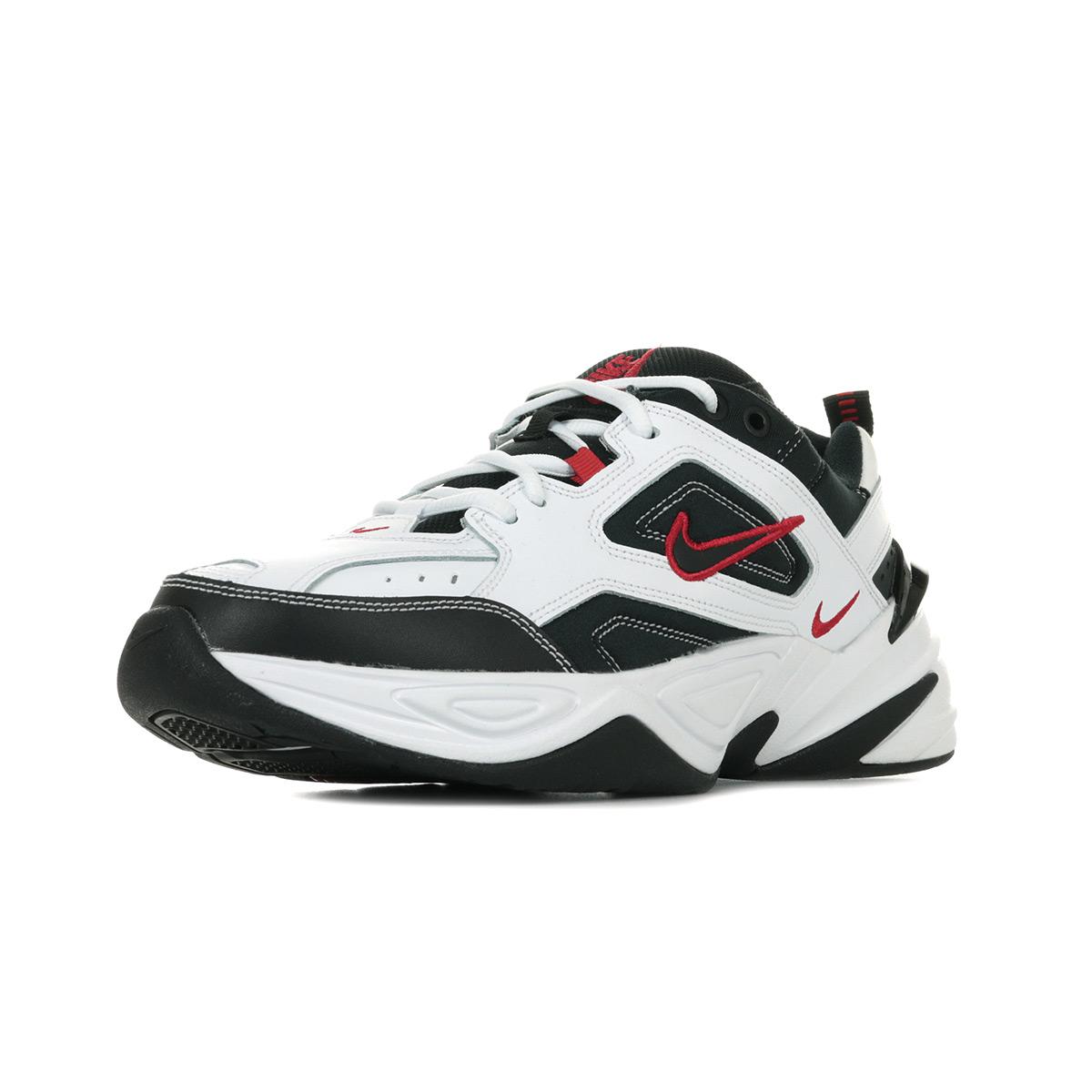 Détails sur Chaussures Baskets Nike homme M2K Tekno taille Blanc Blanche Cuir Lacets