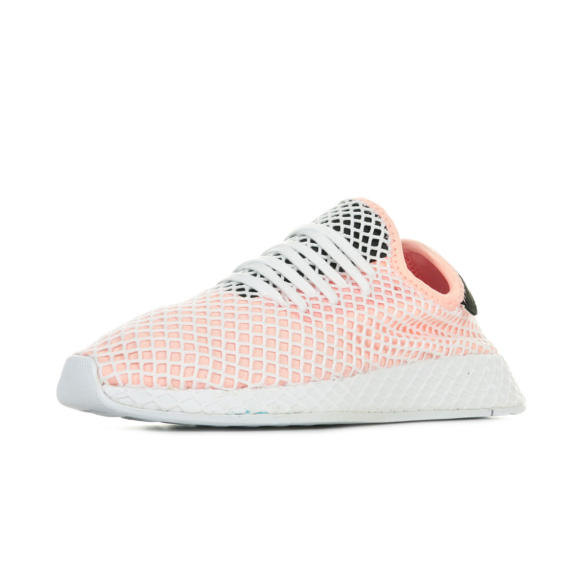 Détails sur Chaussures Baskets adidas femme Deerupt Runner taille Blanc Blanche Textile