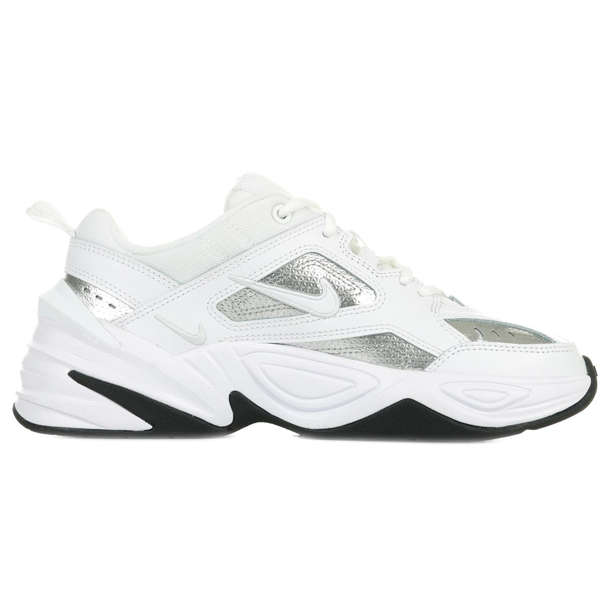 Détails sur Chaussures Baskets Nike femme M2K Tekno Essential taille Blanc Blanche Cuir