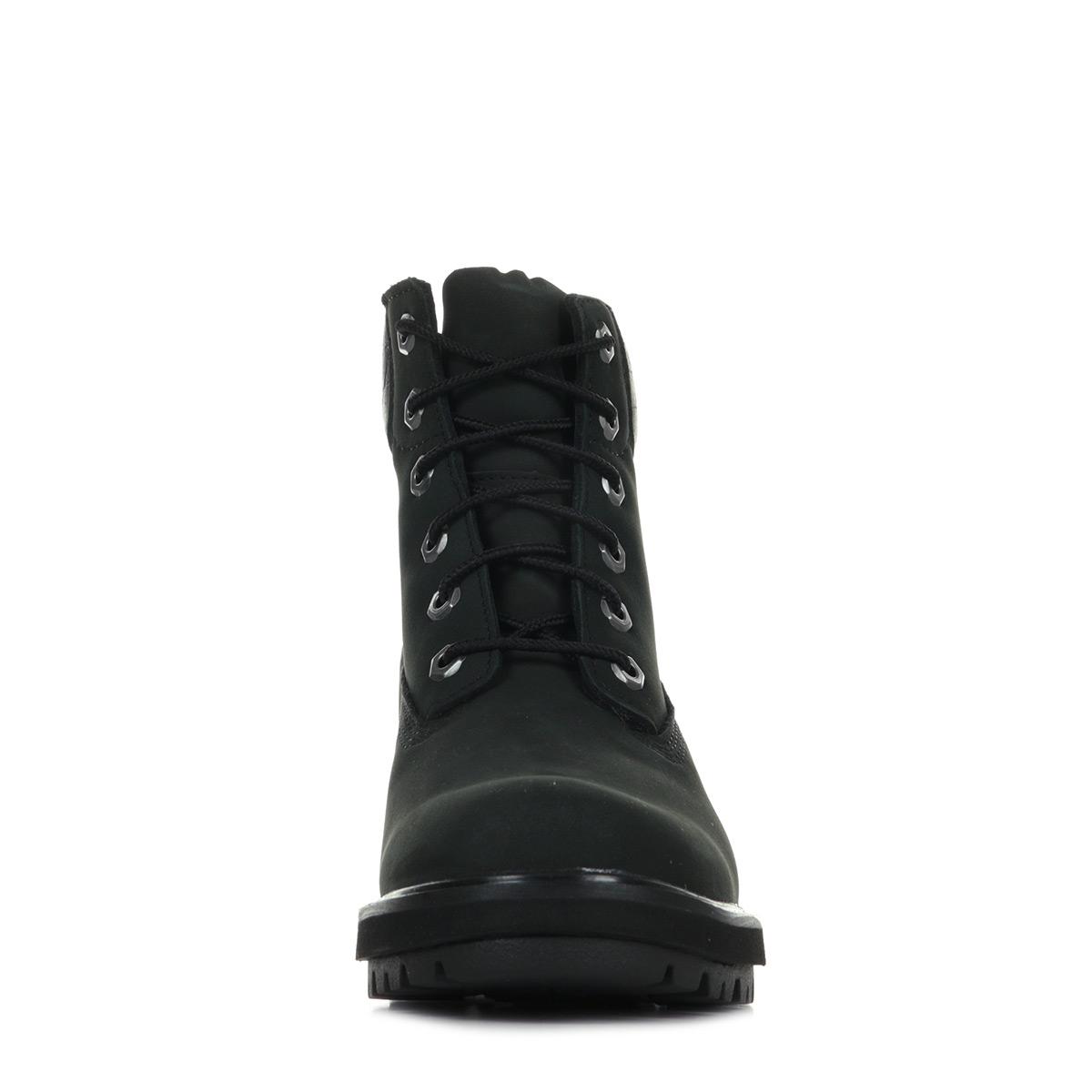 Détails sur Bottines Timberland femme Kinsley 6 inch WP taille Noir Noire Nubuck Lacets