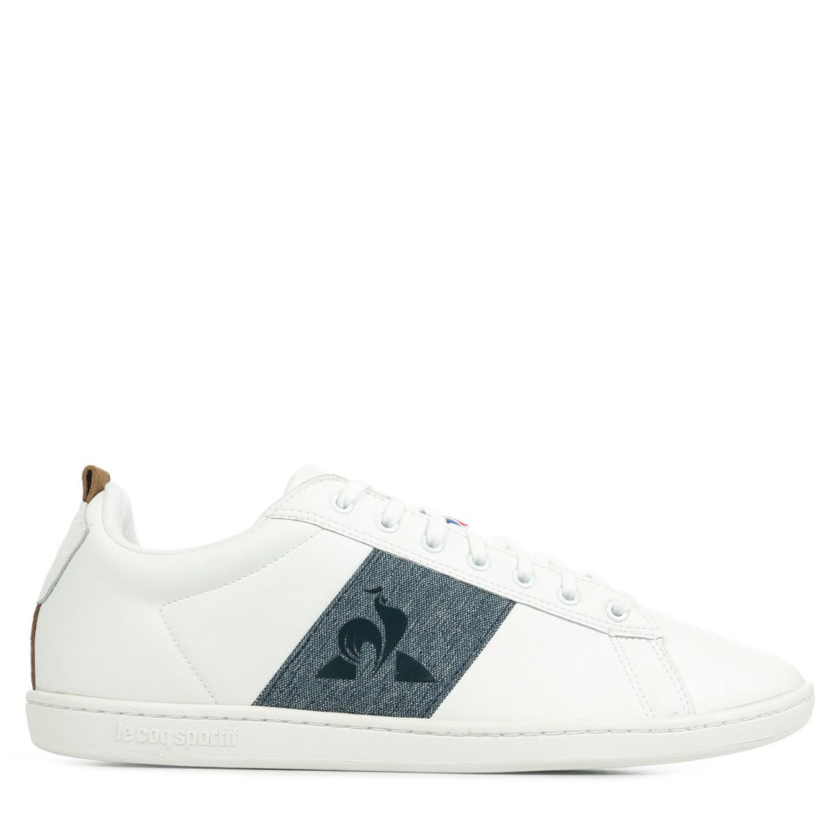 Le Coq Sportif Courtstar Craft Strap Denim Herren Sneaker Weiß 1921629 Schuhe
