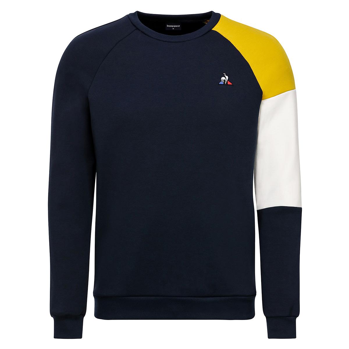 Vêtement Sweats Le Coq Sportif homme Sweat LCS Tech Crew taille Noir Coton