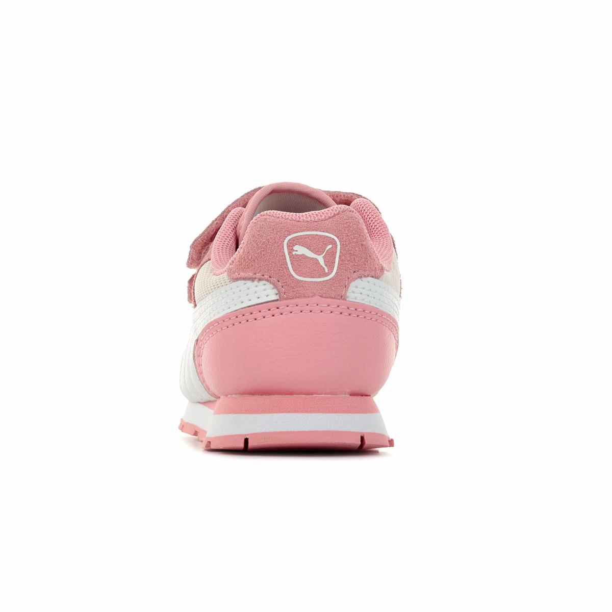 Détails sur Chaussures Baskets Puma fille Vista V PS taille Rose Textile Scratchs