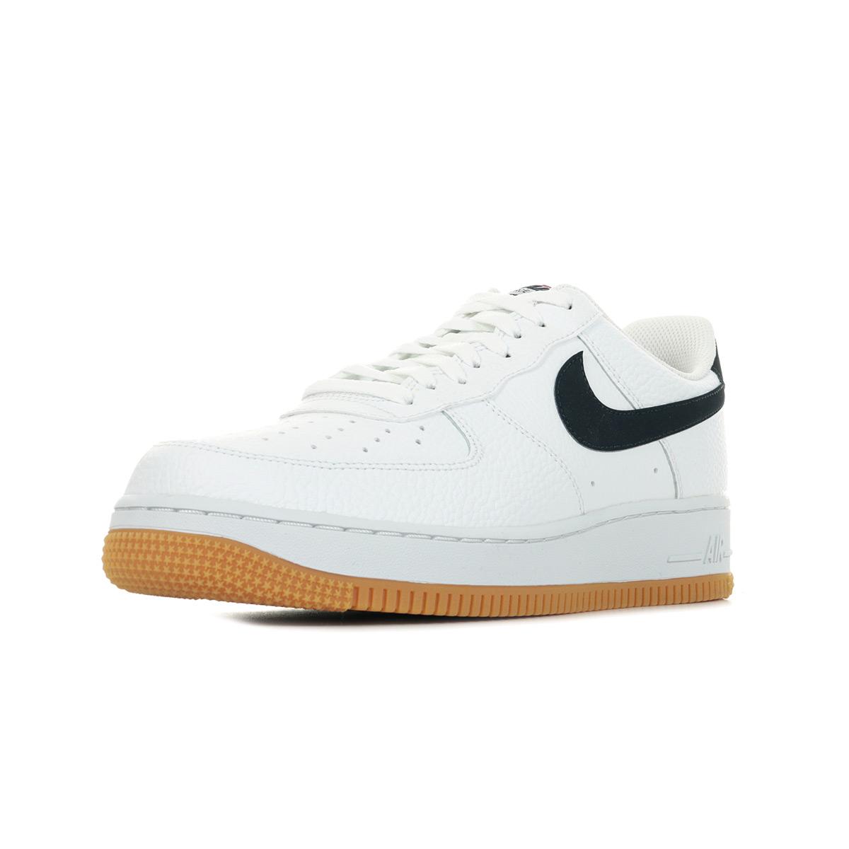 Détails sur Chaussures Baskets Nike homme Air Force 1 '07 taille Blanc Blanche Cuir Lacets