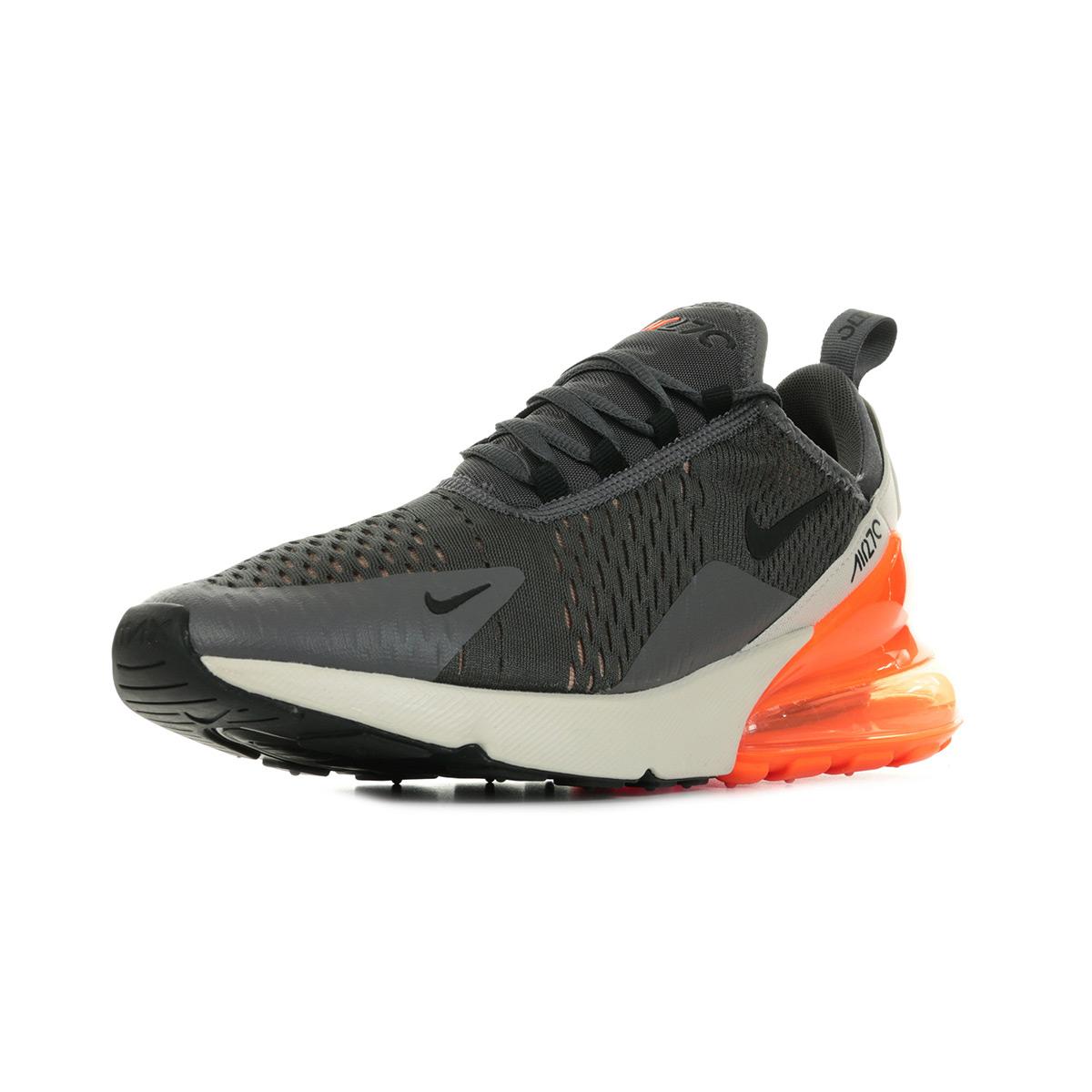 Détails sur Chaussures Baskets Nike homme Air Max 270 taille Gris Grise Textile Lacets