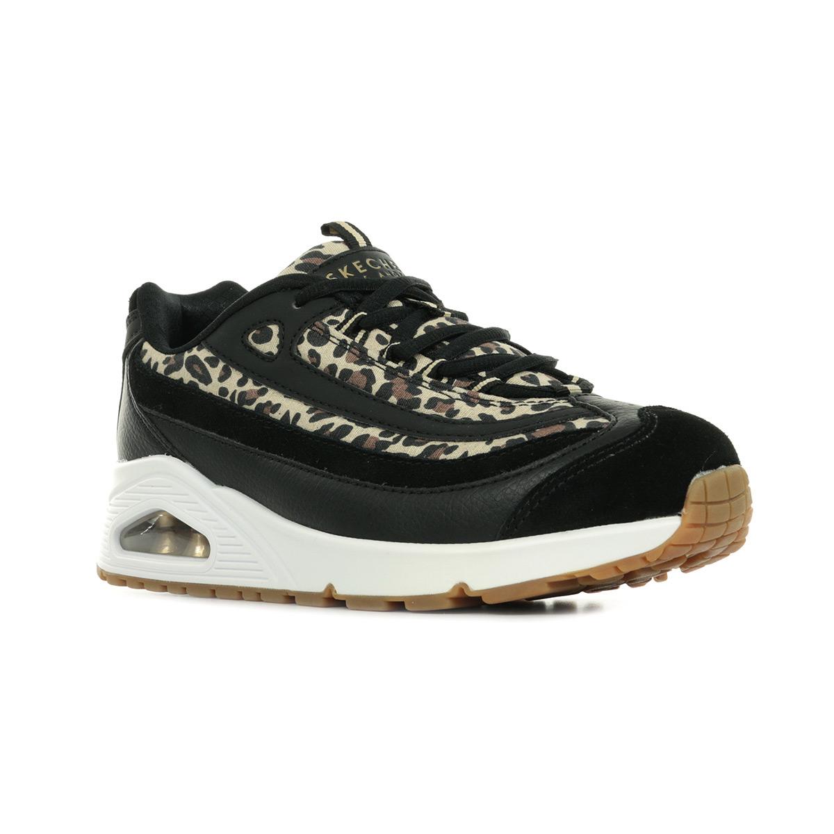 Détails sur Chaussures Baskets Skechers femme Uno Wild Streets taille Noir Noire