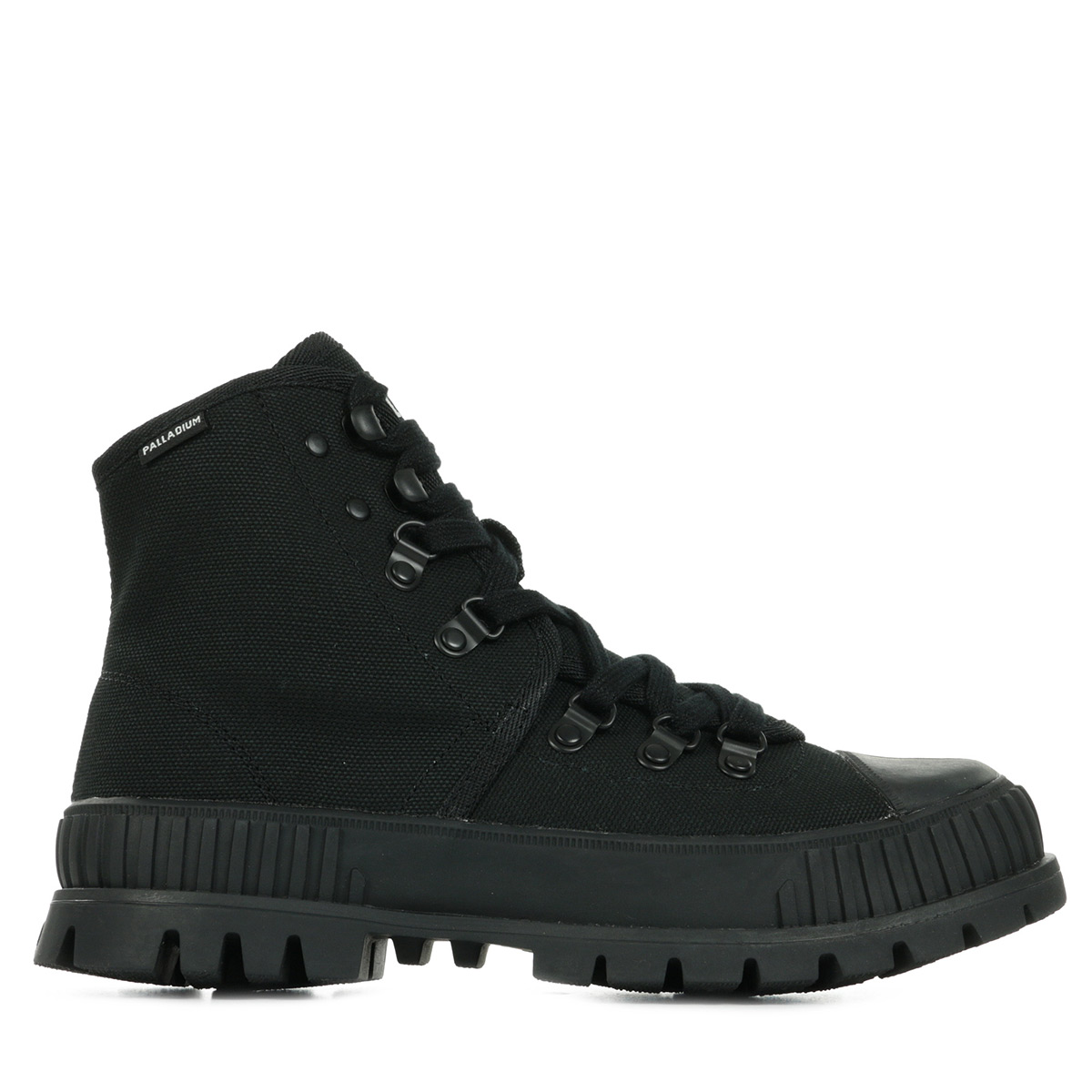 Chaussures Boots Palladium femme Pallashock Hiker Hi taille Noir Noire Textile