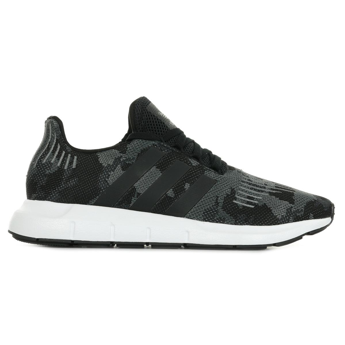 Détails sur Chaussures Baskets adidas homme Swift Run taille Noir Noire Textile Lacets