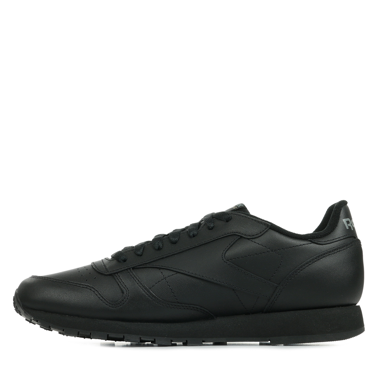 chaussures baskets reebok homme classic leather taille noir noire cuir lacets ebay. Black Bedroom Furniture Sets. Home Design Ideas