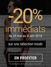 Offre spéciale -20% sur une sélection mode