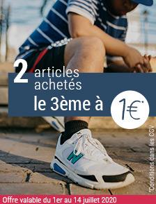 Offre spéciale 2 articles achetés, le 3ème à 1€*