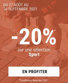 Tous en mode sport -20% sur notre sélection sportswear