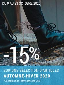 Promos d'automne -15% sur une sélection Automne/Hiver