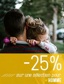 Fête des pères -25% immédiats sur une sélection