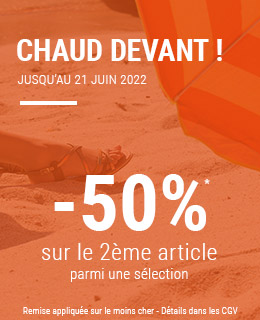 Summer days -60%* sur le 2ème article