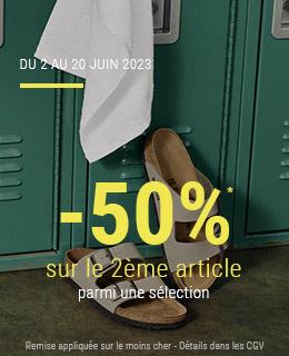 Offre spéciale -50% sur le 2ème article*